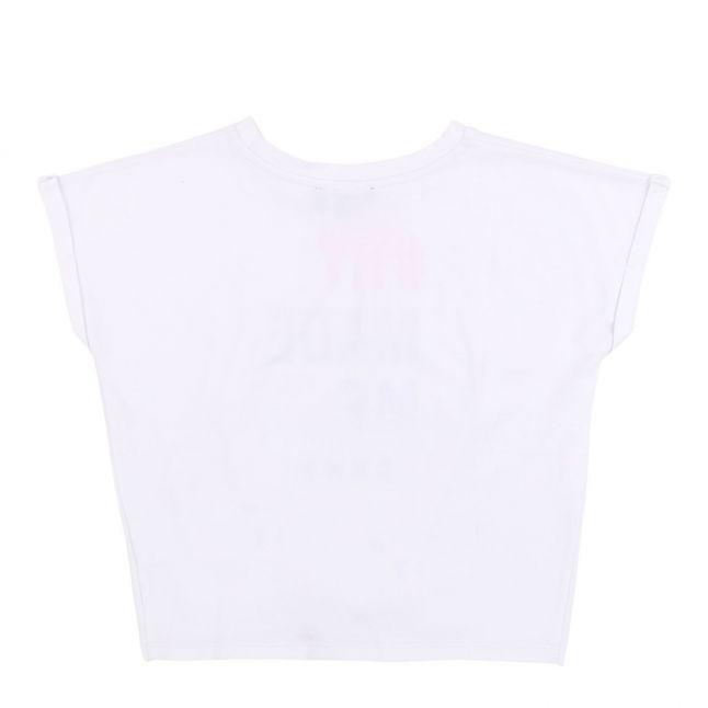 Girls White NY Made Me S/s T Shirt