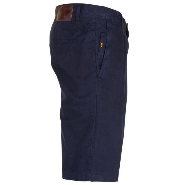 Mens Dark Blue Wash Schino Regular Fit Shorts