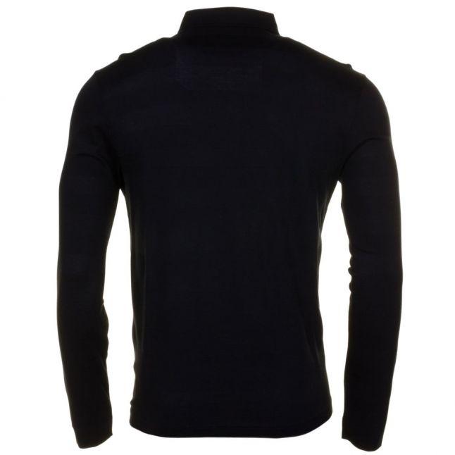 Mens Black Stapleton L/s Polo Shirt