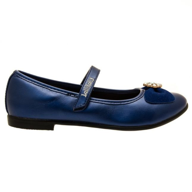 Girls Blue Linda Shoes (26-35)