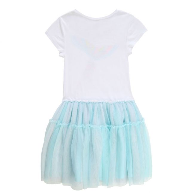 Girls White Lagoon Mermaid Net Skirt Dress