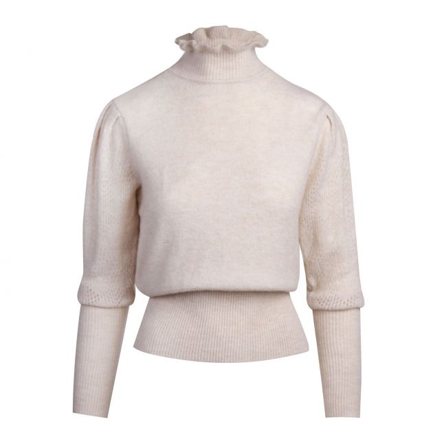 Womens Birch Viremsi Frill Neck Knitted Jumper