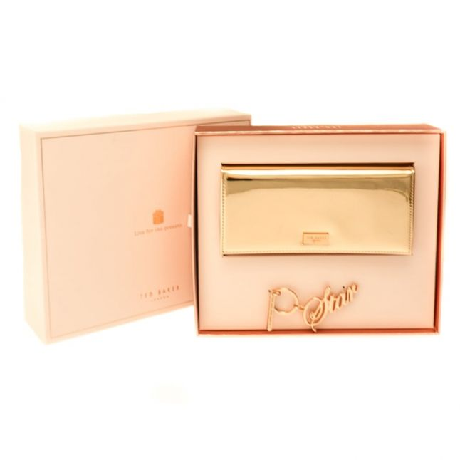 Womens Rose Gold Kina Purse With Keyring Gift Set