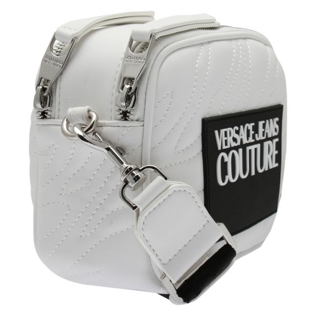 Womens White Animal Quilted Camera Bag