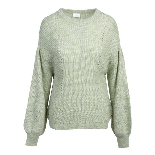 Womens Loden Frost Visee Balloon Sleeve Knitted Jumper
