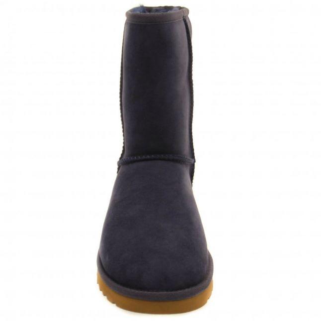 Womens Navy Classic Short Boots