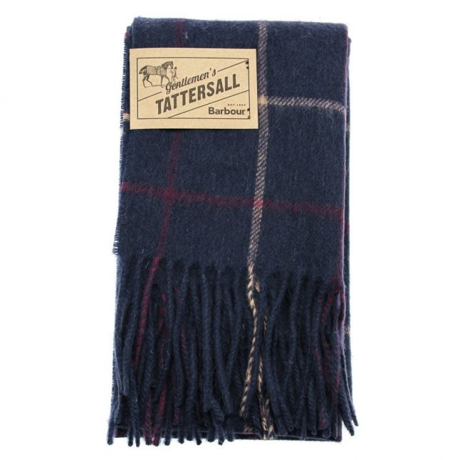 Lifestyle Womens Navy & Plum Tattersall Lambswool Scarf