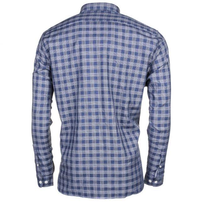 Mens Blue Check L/s Shirt