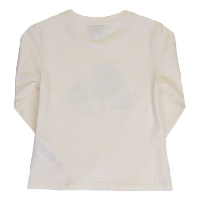 Girls Yellow Karl Head L/s Tee Shirt
