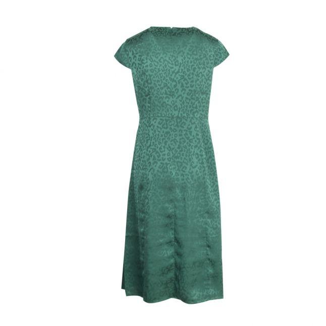 Womens Green Bellana Jacquard Midi Dress