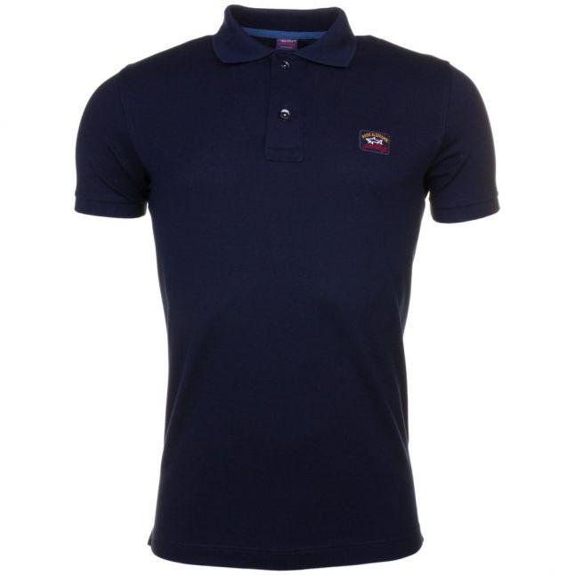 Paul & Shark Mens Navy Shark Fit Basic S/s Polo Shirt