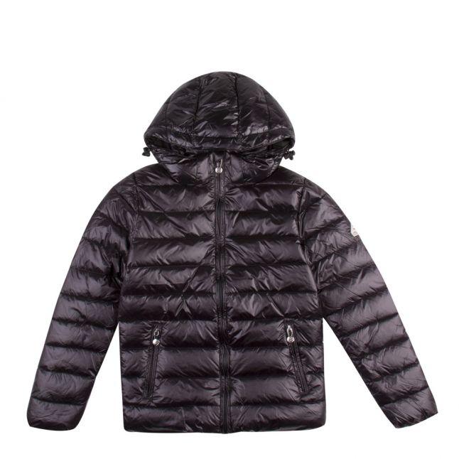 Girls Black Spoutnic Shiny Hooded Padded Jacket