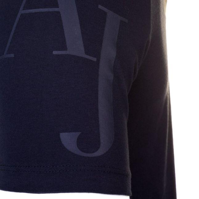 Mens Blue Back Print Eagle Regular Fit S/s Tee Shirt