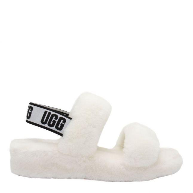 Womens White Oh Yeah Slide Slippers