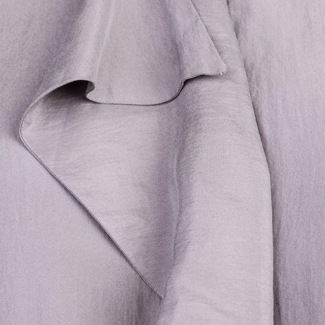Womens Medium Grey Confet Silk Ruffle Top