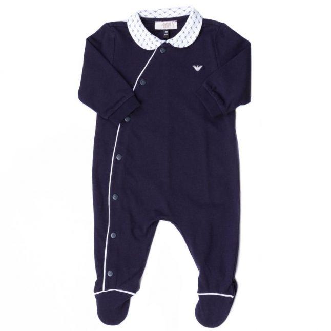 Baby Navy Collar Babygrow