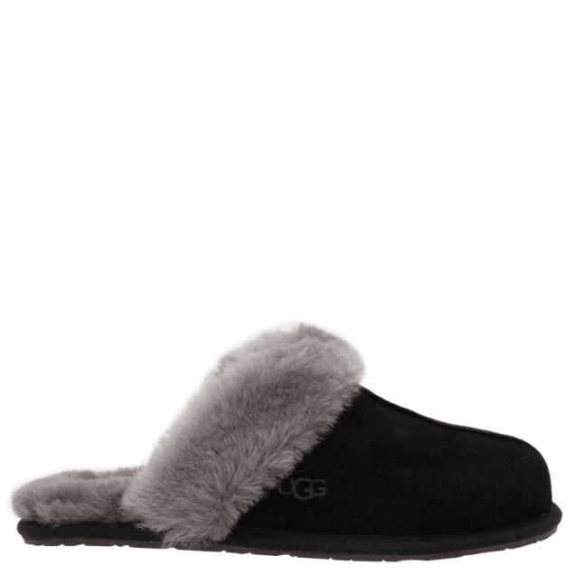 Womens Black Scuffette II Slippers