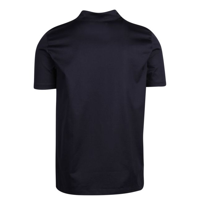 Mens Dark Blue Dilvio Zip Collar S/s Polo Shirt