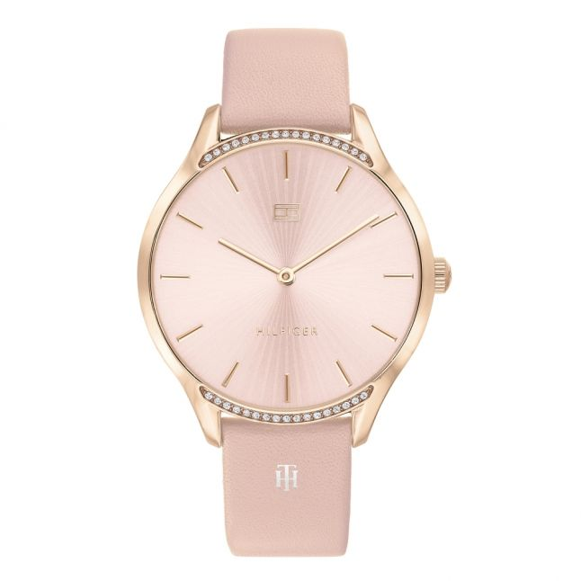 Womens Rose Gold/Blush Gray Leather Watch