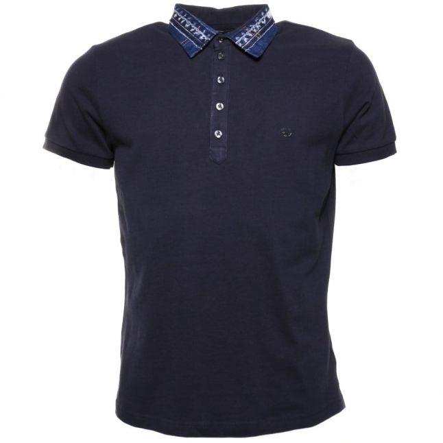 Mens Navy T- Serpico S/s Polo Shirt