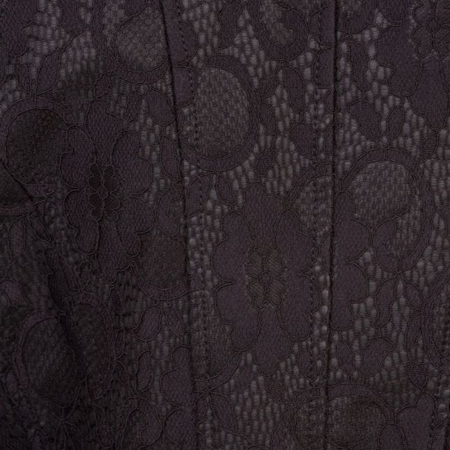 Womens Black Bloom Lace Biker Jacket
