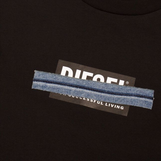 Mens Black T-Just-LS-X41 L/s T Shirt