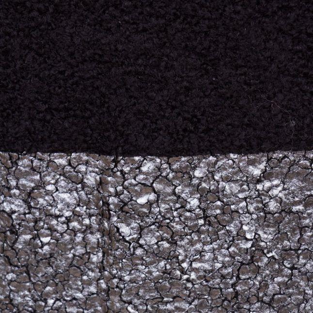 Womens Black Foil Detail Jumper