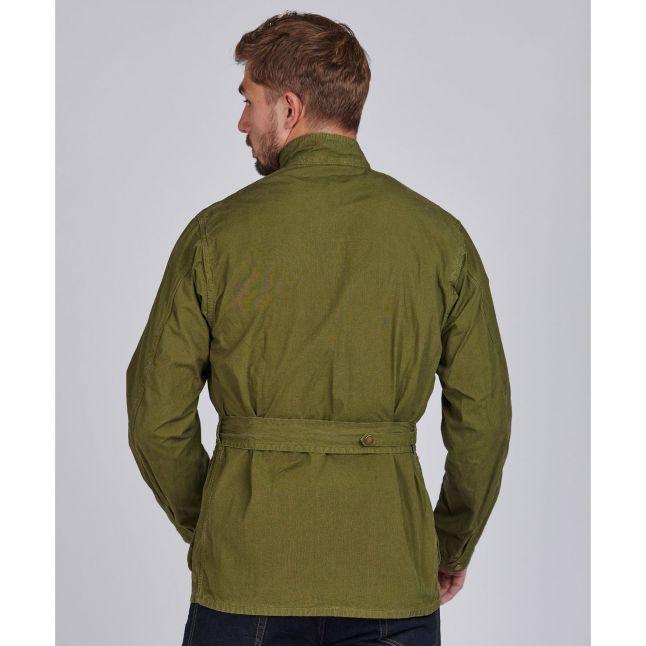 Mens Green Military Summer Wash A7 Jacket