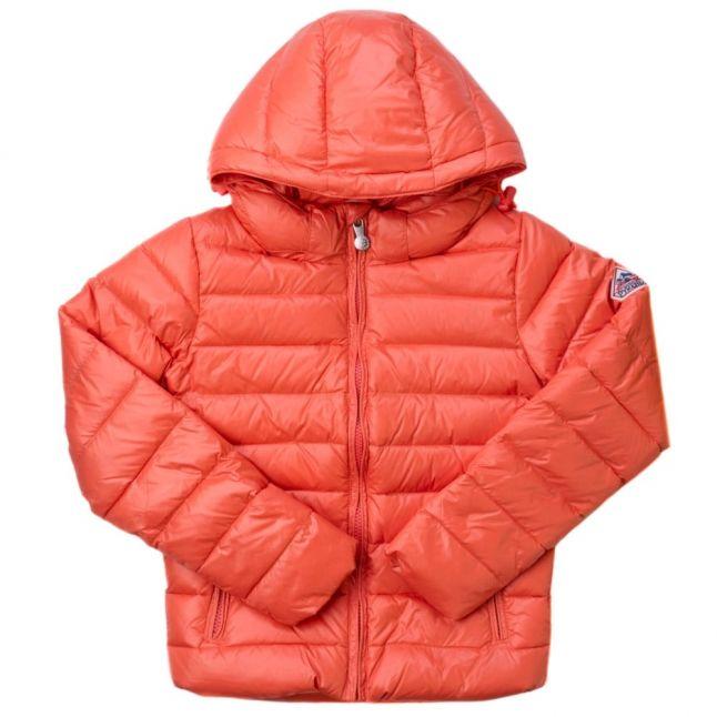 Girls Salmon Spoutnic Hooded Shiny Jacket (8yr+)