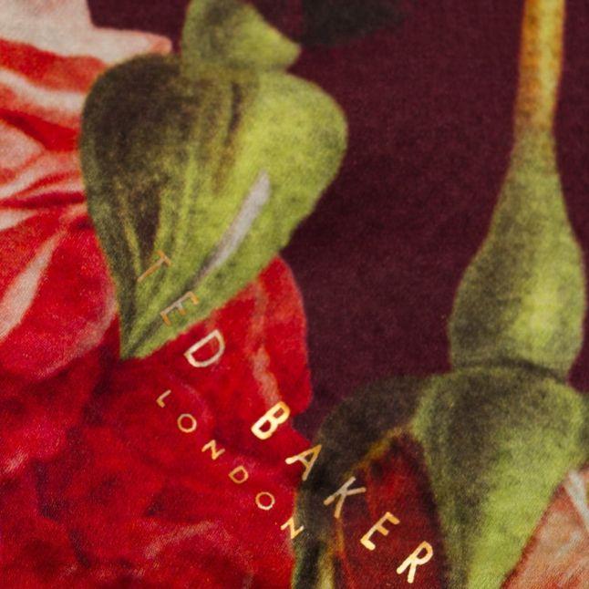 Womens Grape Juria Juxtapose Rose Silk Scarf & Cape