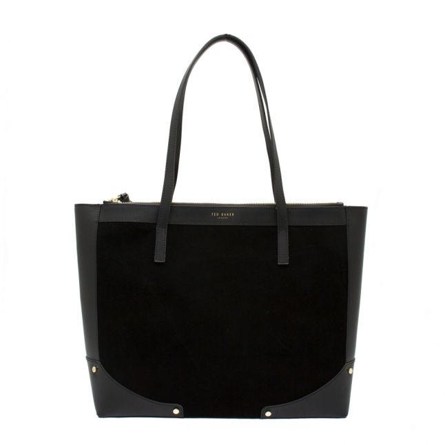 Womens Black Arriah Suede Detail Shopper Bag
