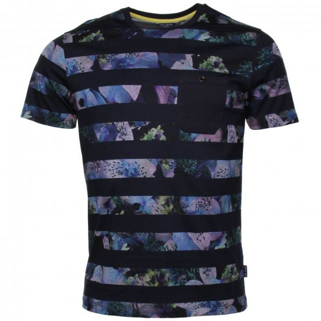 Mens Navy Aldale S/s Printed Tee Shirt