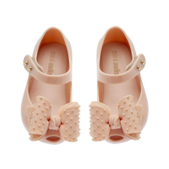 Girls Pink Mini Ultragirl Dot Bow Shoes (4-9)