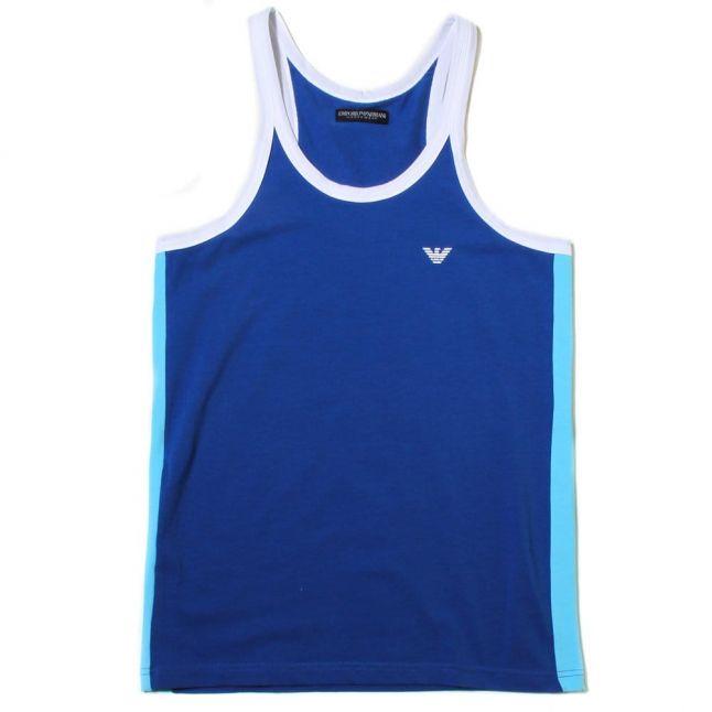 Mens China Blue Small Logo Vest