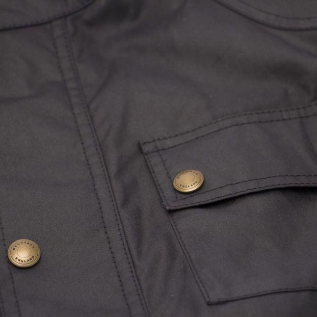 Boys Dark Navy Roadmaster Waxed Jacket