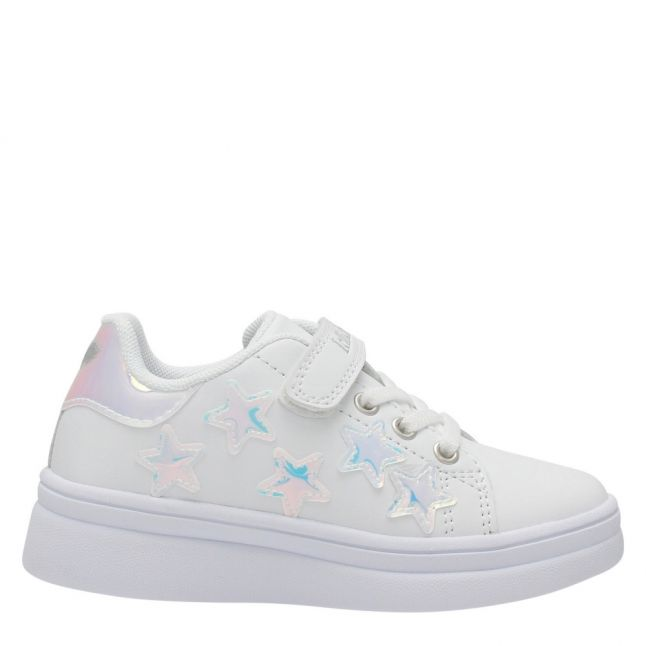 Girls White Molly Star Trainers (28-37)