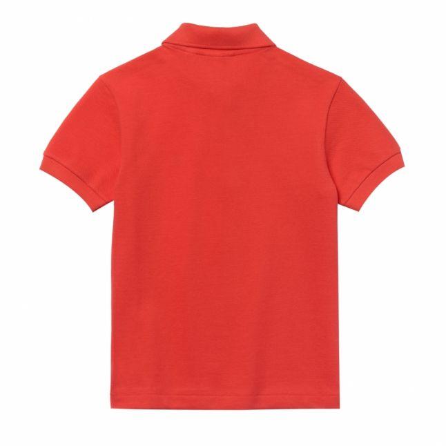 Boys Energy Red Classic Pique S/s Polo Shirt