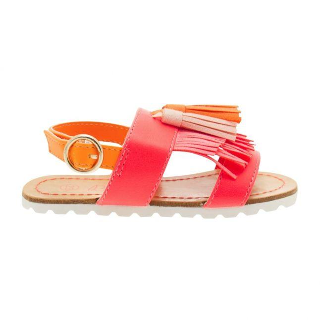Girls Pink Tassel Sandals