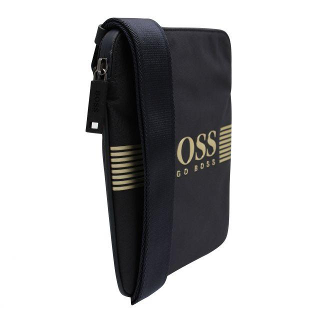 Athleisure Mens Navy/Gold Pixel_S Zip Crossbody Bag