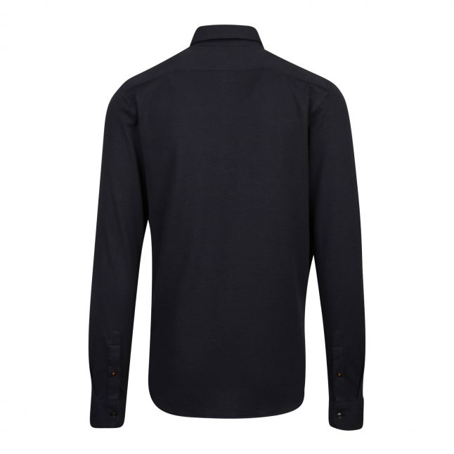 Mens Navy Morty Texture L/s Shirt