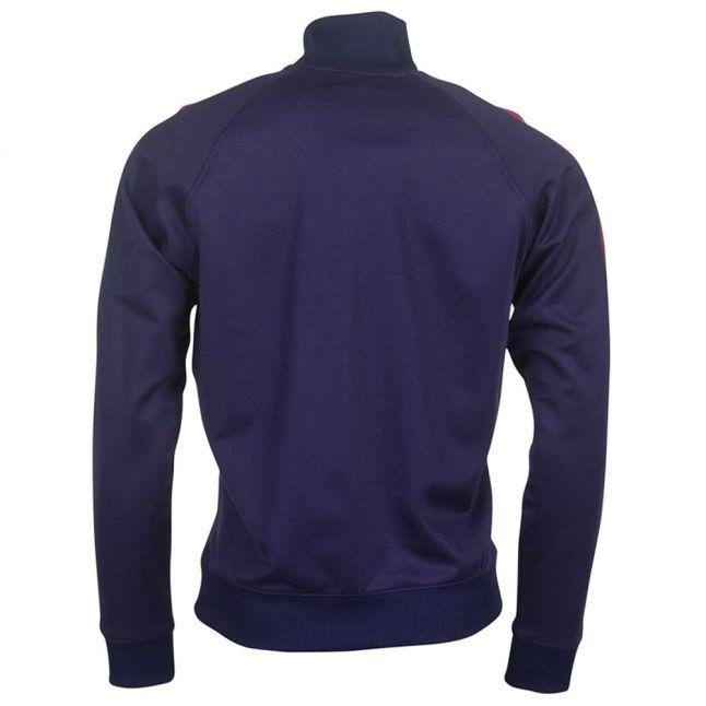 Mens Carbon Blue Contrast Panel Track Jacket