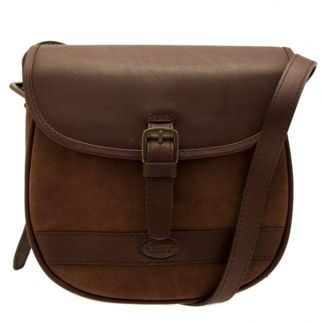 Womens Walnut Clara Large Saddle Bag