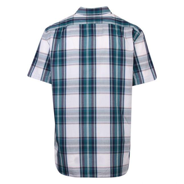 Mens Legion Blue/White Large Check Cotton S/s Shirt