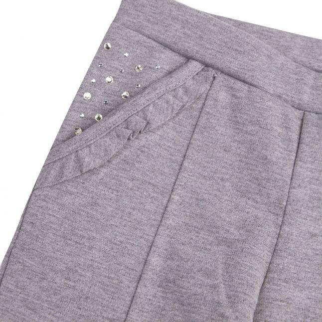 Mayoral Girls Steel Grey Gem Detail Leggings