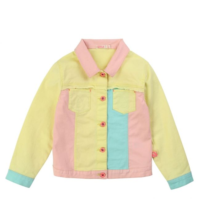 Girls Yellow Multi Patchwork Jacket