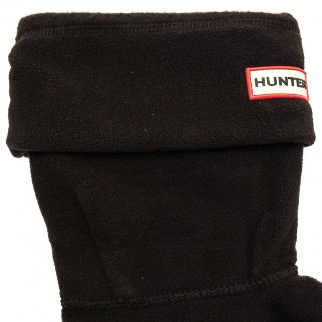 Womens Classic Black Short Fleece Socks