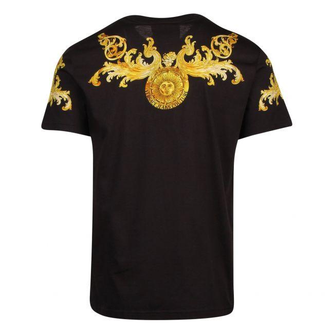 Mens Black Baroque Chest Slim Fit S/s T Shirt