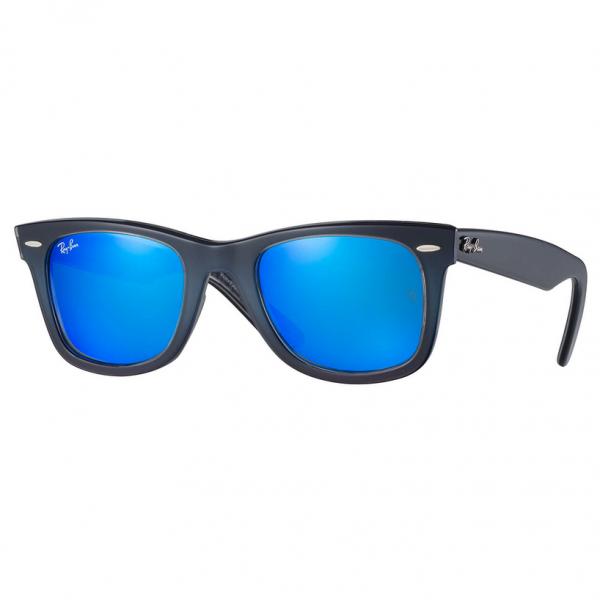 Blue Mirror RB2140 Wayfarer Pixel Sunglasses