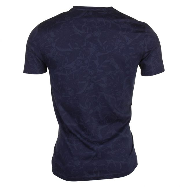Mens Navy Flowby Floral S/s Tee Shirt