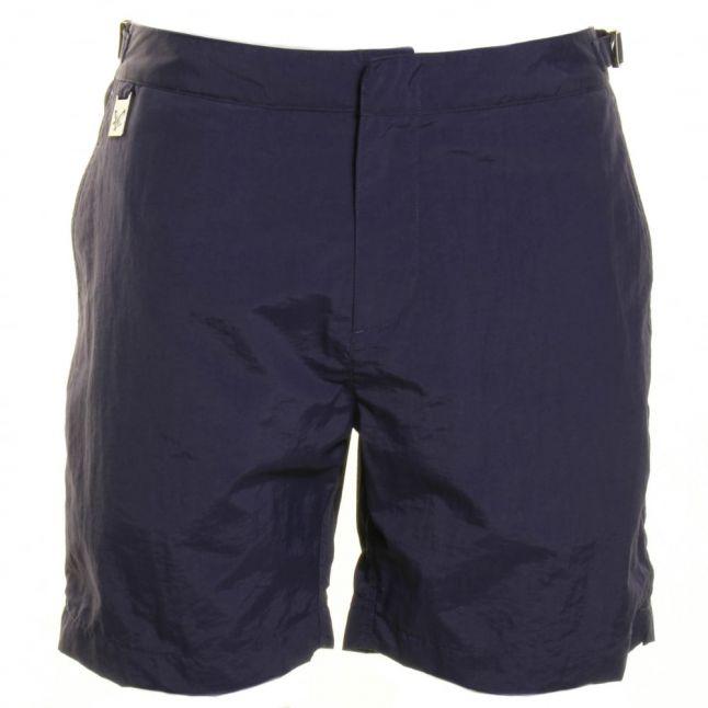 Mens Navy Tailored Swim Shorts